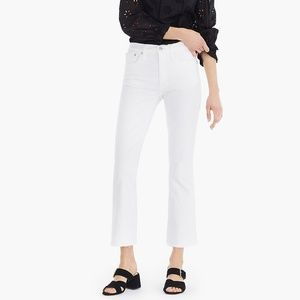 J. Crew Billie Demi Boot Crop Jeans in White Sz 26